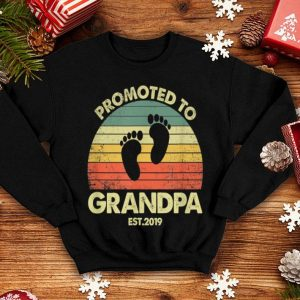 Promoted To Grandpa Est 2019 Father Day shirt
