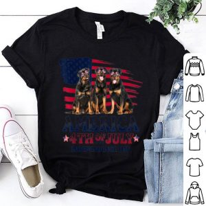 Rottweiler America 4th Of July Independence Day shirt