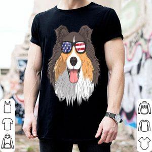 Shetland Sheepdog Dog Patriotic Sheltie 4th Of July American shirt