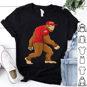 Trump 2020 Usa Flag Sasquatch Maga Bigfoot shirt