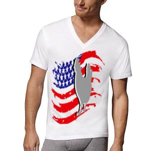 Vintage Farm Chicken 4Th Of July American Flag shirt