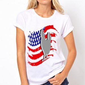 Vintage Farm Chicken 4Th Of July American Flag shirt