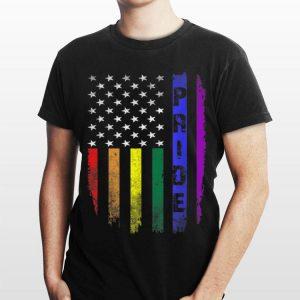 Vintage Lgbt Pride American Flag Gay shirt