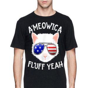 A'Meowica Fluff Yeah 4th Of July Cat shirt