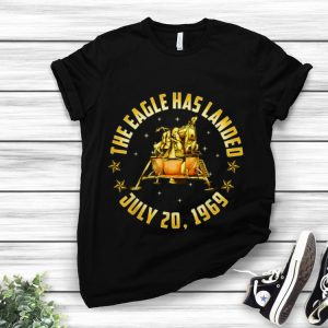 Apollo 11 The Eagle Has Landed July 20 1969 Gold 50th Anniversary hoodie