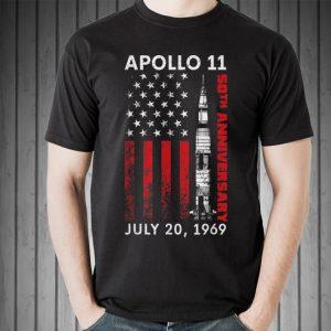 Awesome Apollo 11 50th Anniversary Moon Landning July 20 1969 American Flag shirt