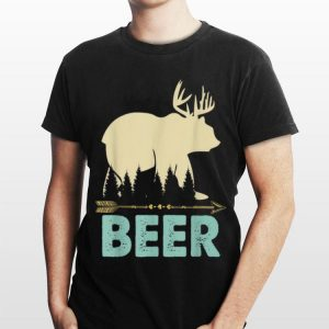 Bear Deer Beer Drinking Alcohol Lover shirt