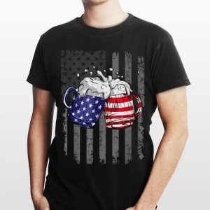 Beer American Flag Usa International Beer day Merica shirt