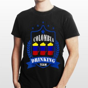 Beer Colombia Drinking Team Casual Colombia Flag shirt