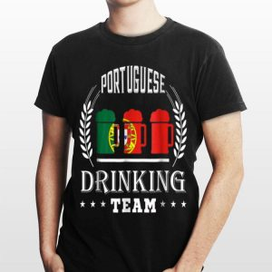 Beer Portuguese Drinking Team Casual Portugal Flag shirt