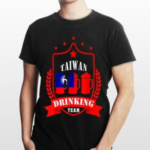 Beer Taiwan Drinking Team Casual Taiwan Flag shirt