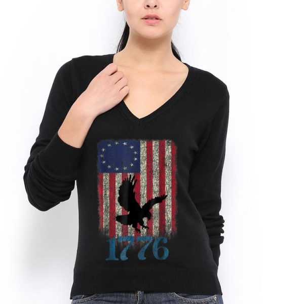 Betsy Ross Flag Eagle Usa 1776 4th Of July Happy Independence Day hoodie