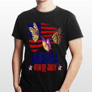 Butterfly Patriotic American America 4th Of July shirt