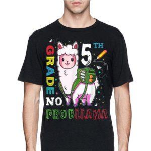 First Day Of 5th Grade No Probllama Llama Back To School shirt