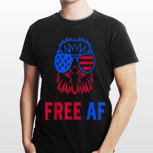 Free Af Usa American Flag Patriotic Eagle shirt