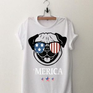 Funny Pug Merica 4Th Of July Dog Puppy shirt