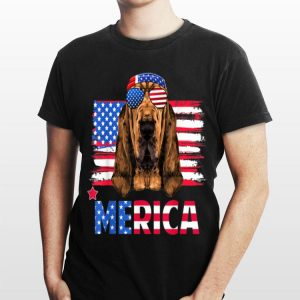 Hanging With Bloodhound Mom Merica 4Th July shirt