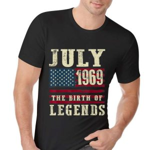 July 1969 The Birth Of Legends American Flag Independence Day hoodie