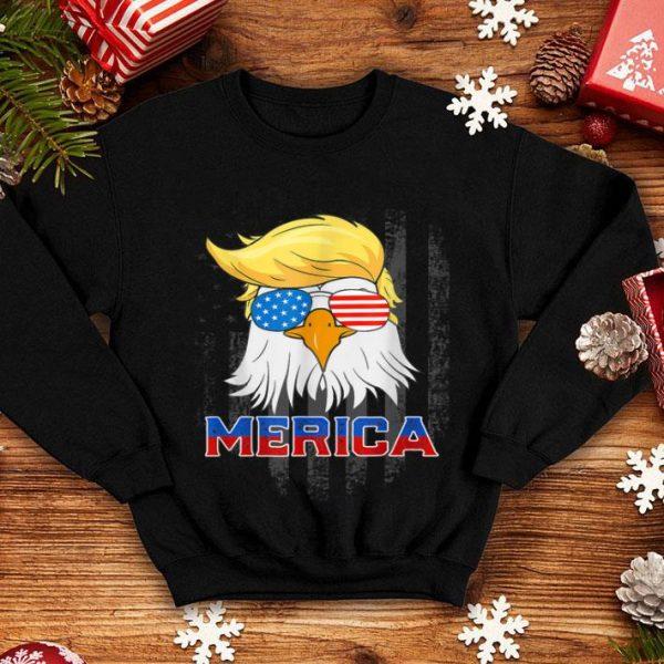 Merica Bald Eagle 4Th Of July American Flag shirt