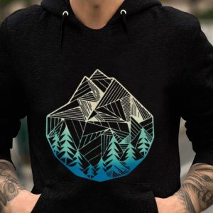 Minimal Mountains Geometry Outdoor Hiking guy tee