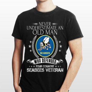 Never Underestimate An Old Man Navy Seabee Veteran shirt