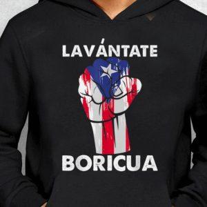 Nice Trend Lavantate Boricua Ricky Renuncia Puerto Rico Flag The Fist shirt 1