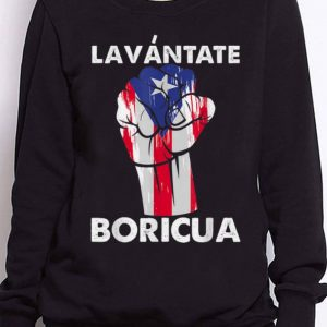 Nice Trend Lavantate Boricua Ricky Renuncia Puerto Rico Flag The Fist shirt 2