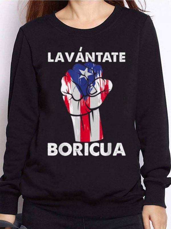 Nice Trend Lavantate Boricua Ricky Renuncia Puerto Rico Flag The Fist shirt