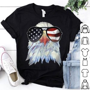 Patriotic Bald Eagle 4Th Of July America Usa Flag Sunglasses shirt
