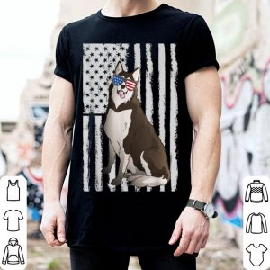 Patriotic Siberian Husky Dog Apparel 4th of July USA Flag shirt