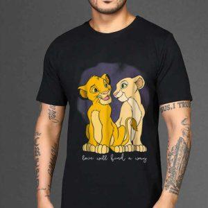 Premium Disney Lion King Simba Nala Love Love Will Find A Way shirt