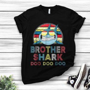 Retro Vintage Brother Shark Sunglass Doo Doo Doo hoodie