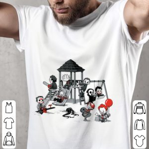 Scary Playground Puppet Doll Horror Youth tee 1