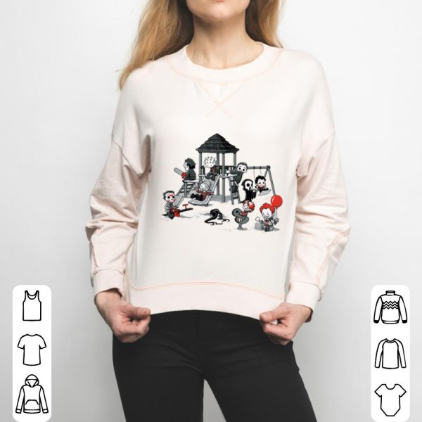Scary Playground Puppet Doll Horror Youth tee