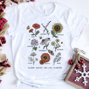 The Best Bloom Where Youre Planted Botanical Flower shirt