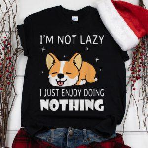 The Best I'm not lazy I just enjoy doing nothing Corgi Dog shirt