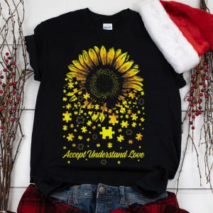 The Best Sunflower Accept Understand Love Autism Awareness shirt