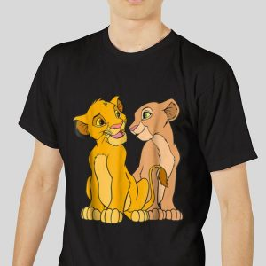 The best trend Disney The Lion King Young Simba and Nala Together shirt 2