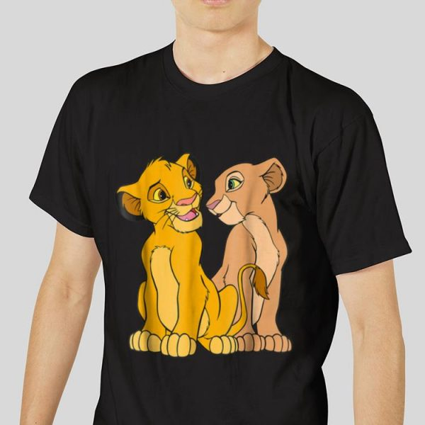 The best trend Disney The Lion King Young Simba and Nala Together shirt