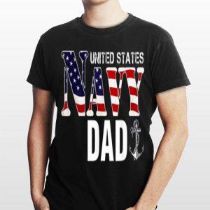 United States Flag American Navy Dad Veteran shirt