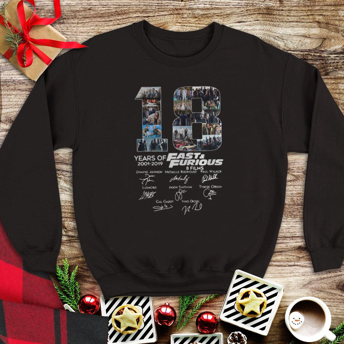 18 Years Of Fast And Furious 8 Films Signature sweater 1 - 18 Years Of Fast And Furious 8 Films Signature sweater
