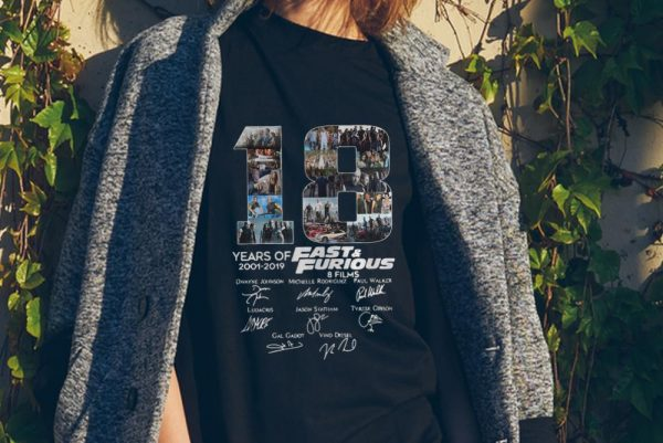 18 Years Of Fast And Furious 8 Films Signature sweater