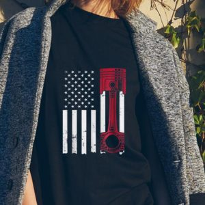 American Flag Piston Muscle Car sweater 1