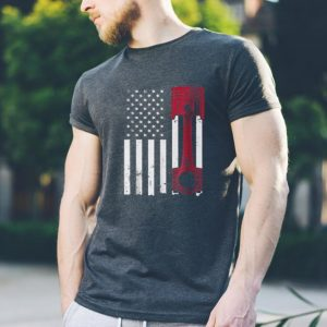 American Flag Piston Muscle Car sweater 2