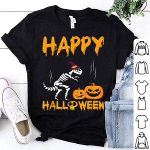 Awesome Funny Happy Halloween T-rex Gift With Pumpkins shirt