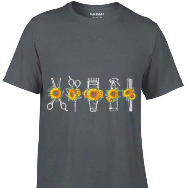 Awesome Hair Stylist Barber Tools Sunflower shirt