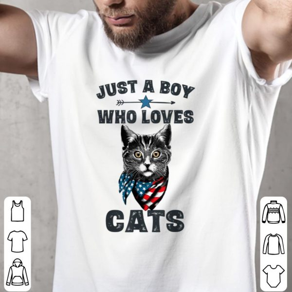 Awesome Just A Boy Who Love Cat American shirt