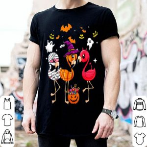 Beautiful Flamingo Happy Halloween Cute Mummy Witch Demon shirt