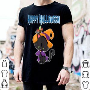Beautiful Happy Halloween Spooky Pumpkins Halloween Cat shirt