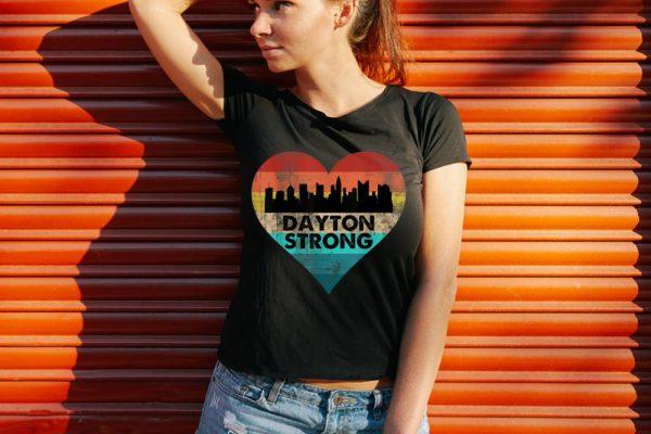 Funny Dayton Strong Ohio Heart Vintage shirt